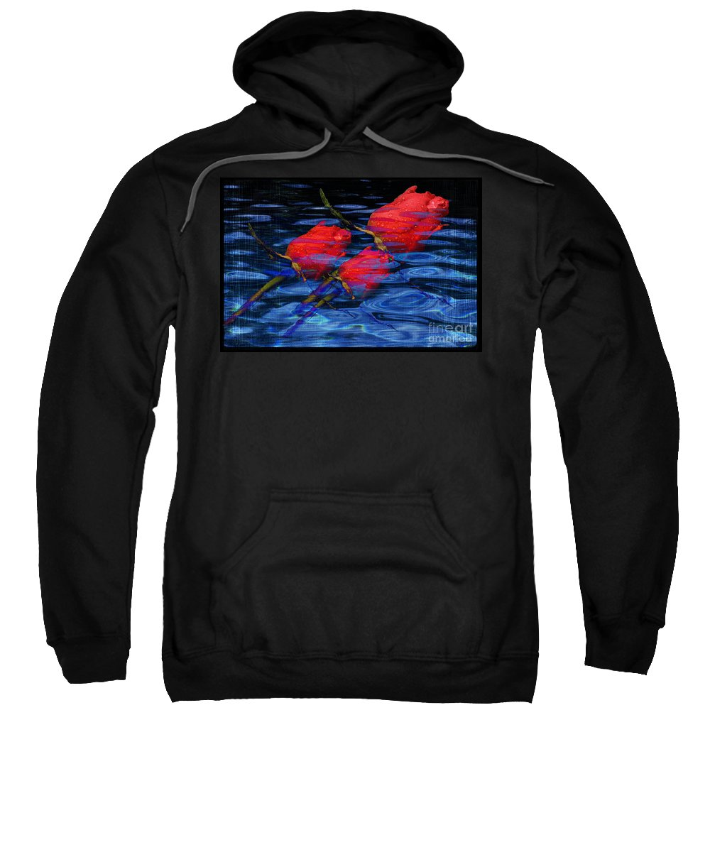 Rose Image Sweatshirt featuring the digital art Be Mine by Yael VanGruber