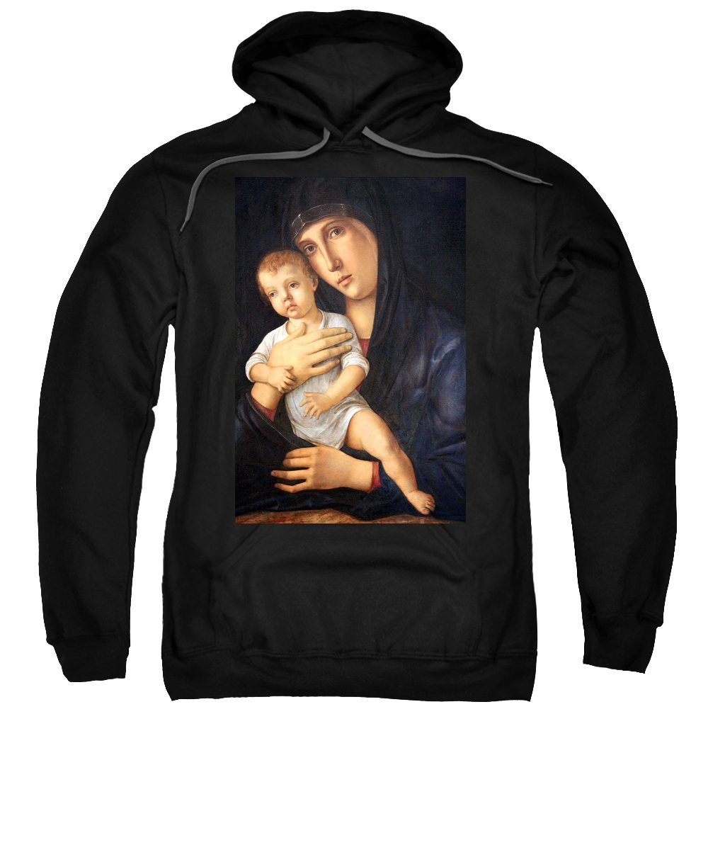 Madonna And Child Sweatshirt featuring the photograph Bellini's Madonna And Child by Cora Wandel