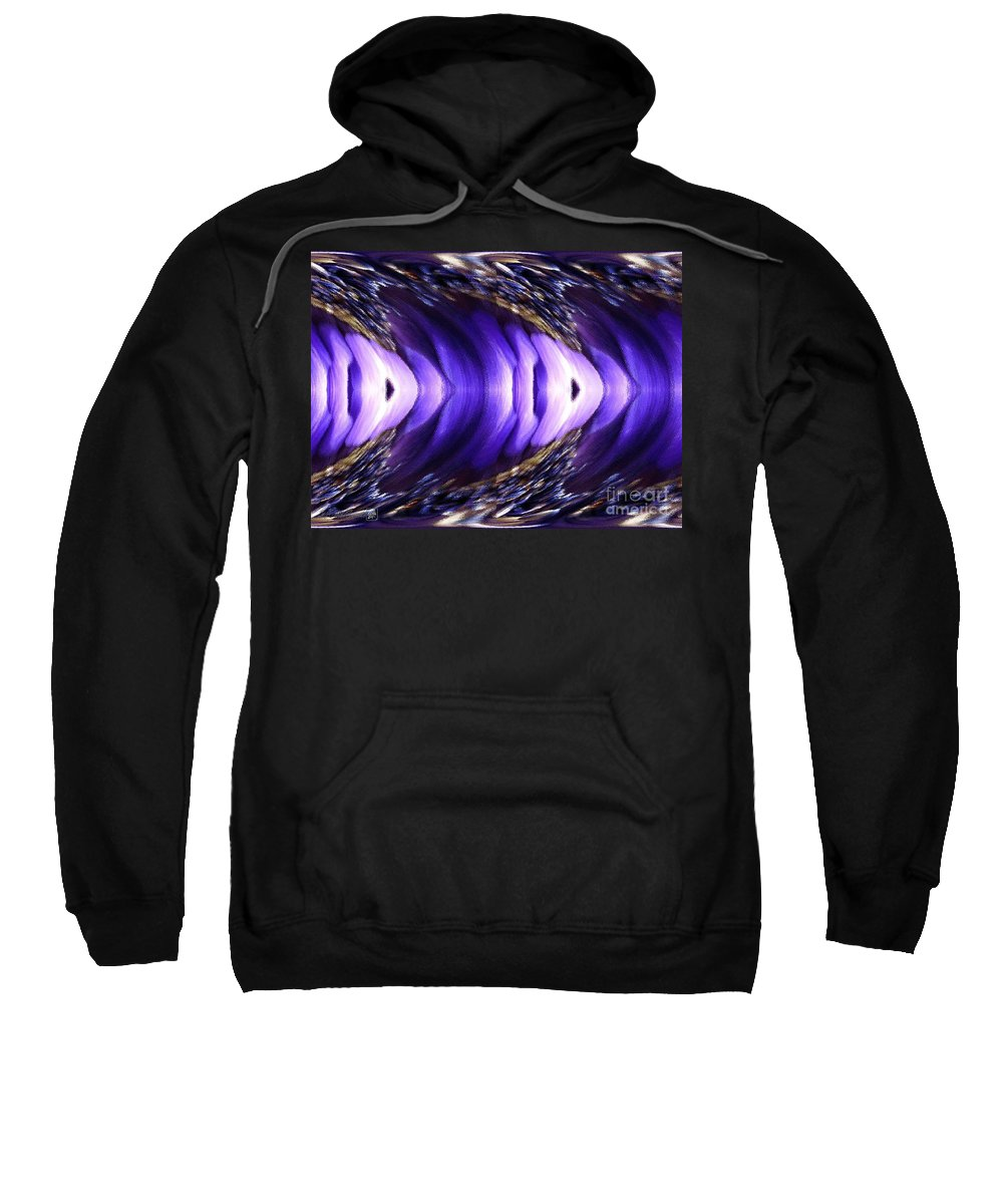 Anemone De Caen Sweatshirt featuring the painting Blue Poppy Fish Abstract by J McCombie