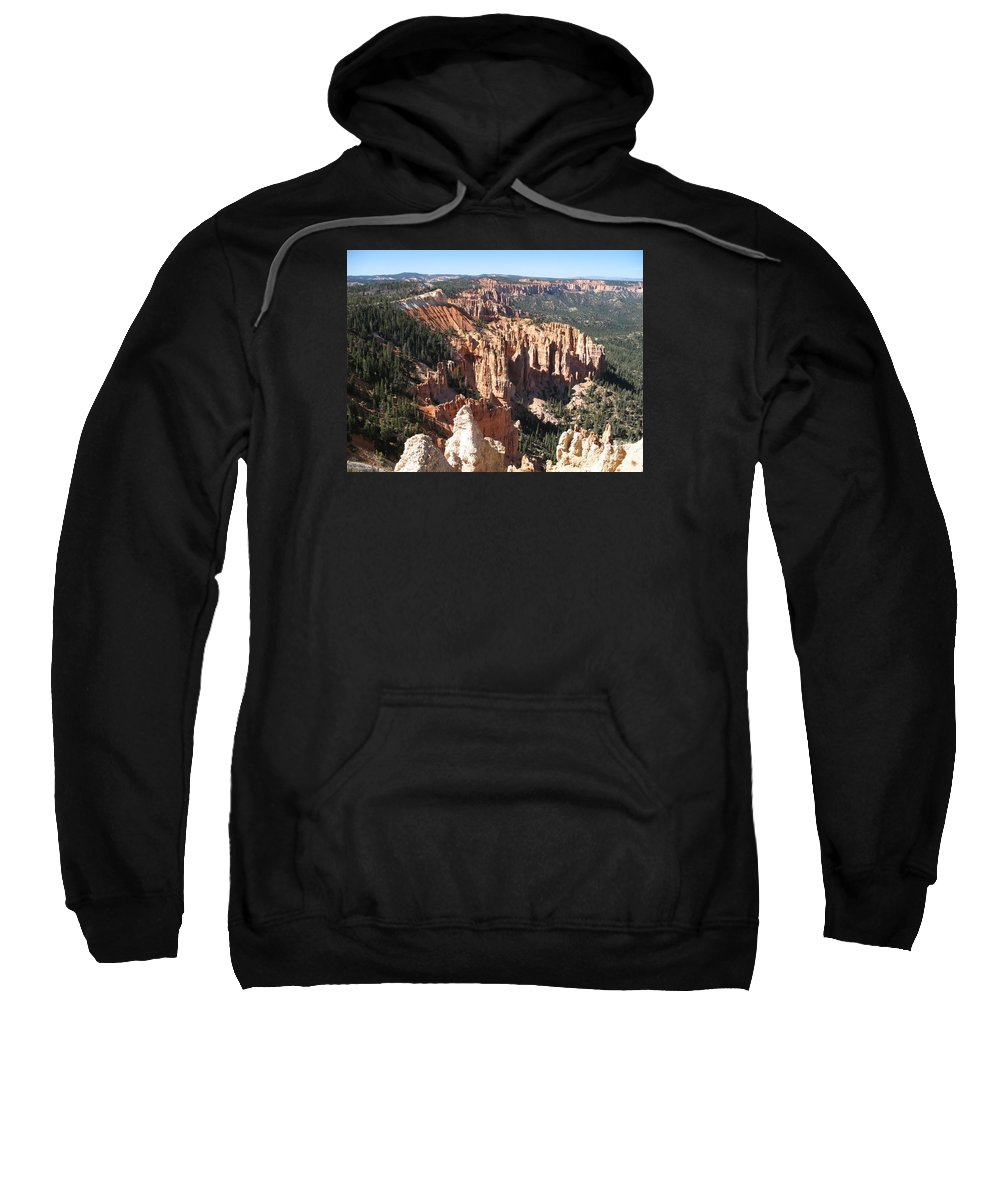 Mountains Sweatshirt featuring the photograph Bryce Canyon Overlook by Christiane Schulze Art And Photography
