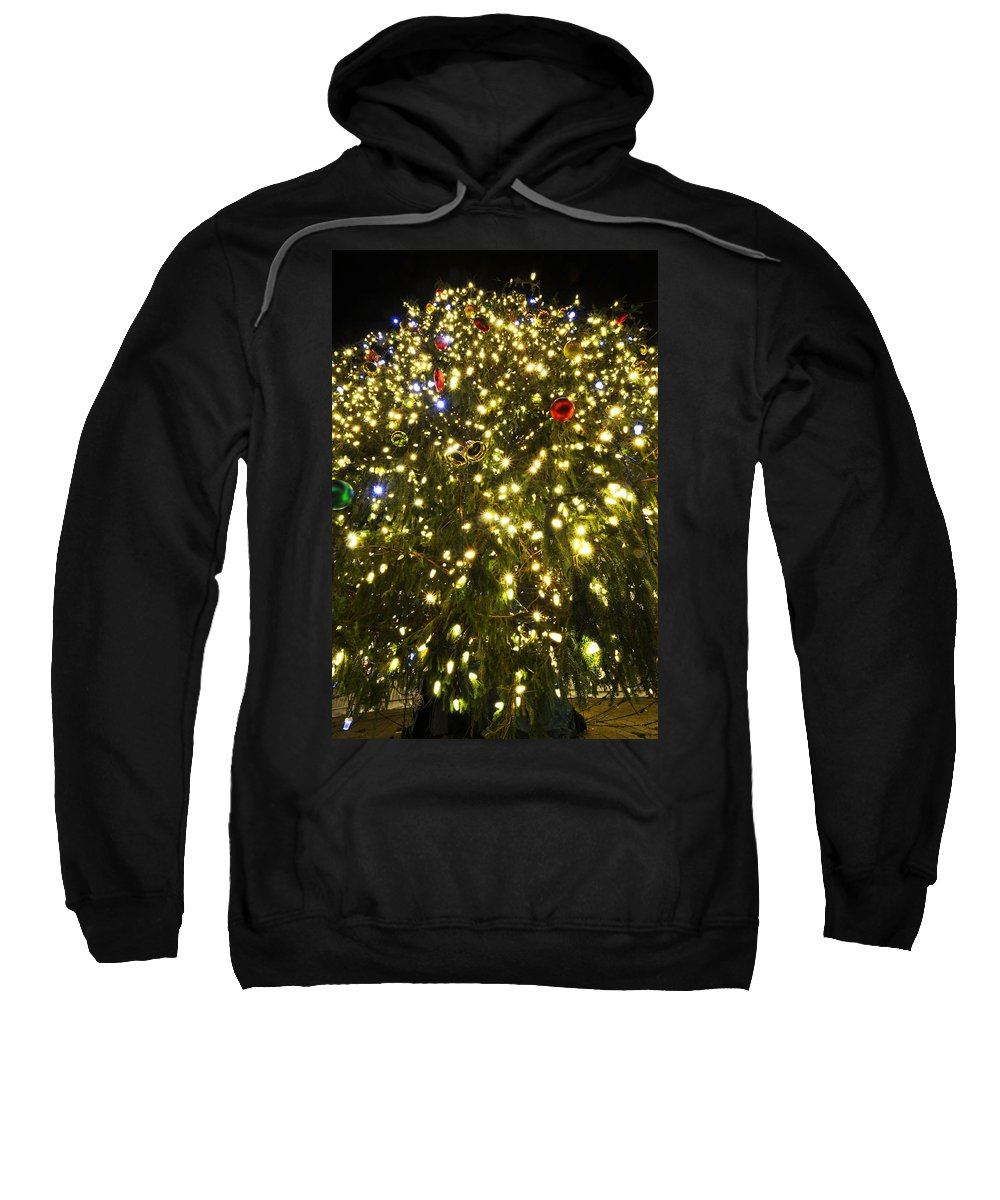 Boston Sweatshirt featuring the photograph Christmas Tree Ornaments Faneuil Hall Tree Boston by Toby McGuire