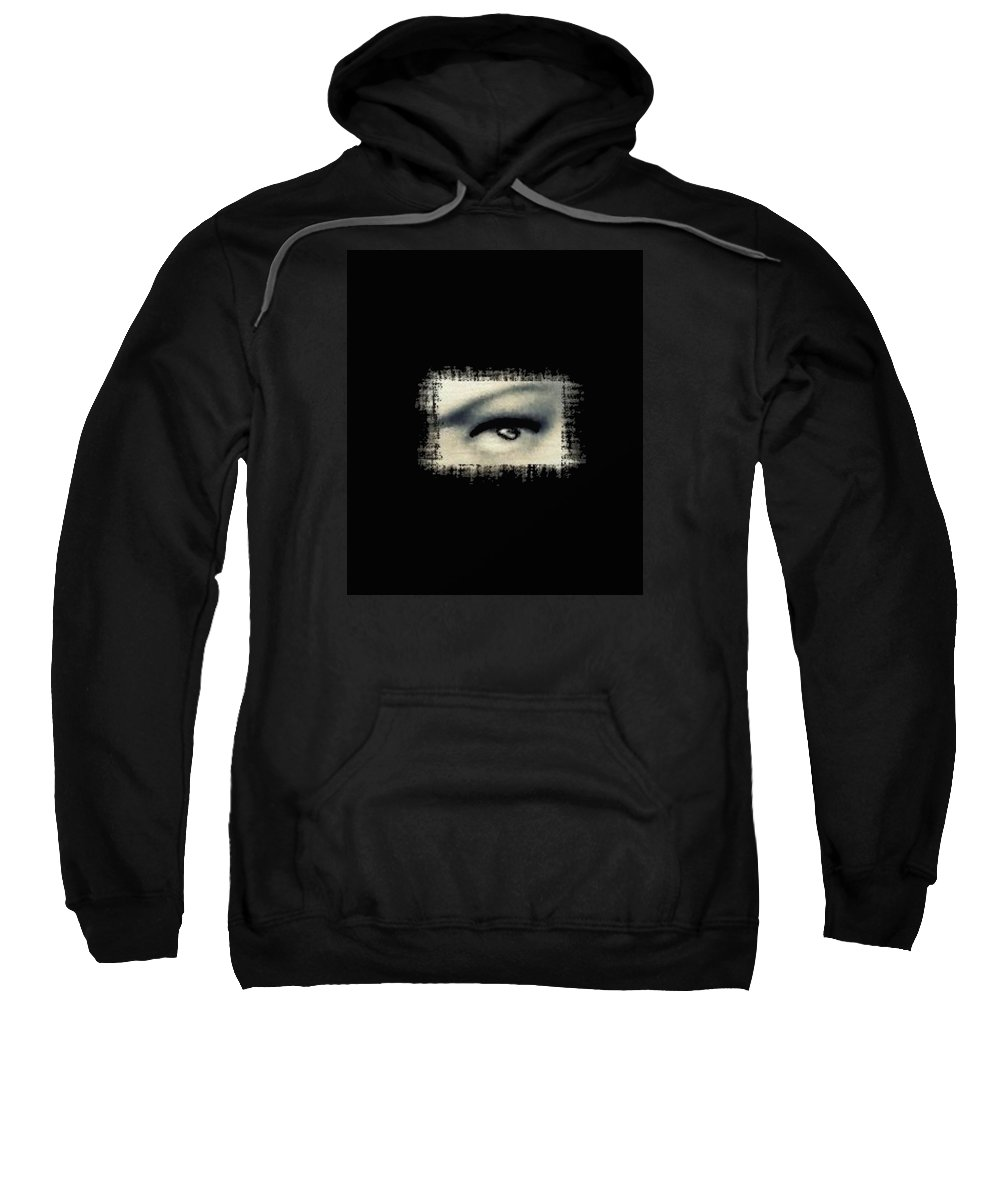 Eye Sweatshirt featuring the digital art Distorted Eye by Frances Lewis