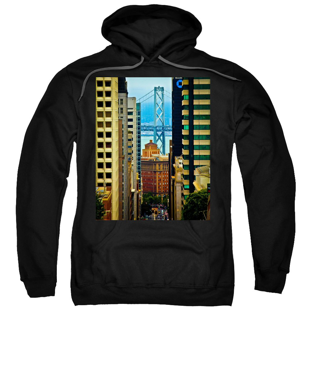 Streets Of San Francisco Sweatshirt featuring the photograph Down To The Bay by Digital Kulprits