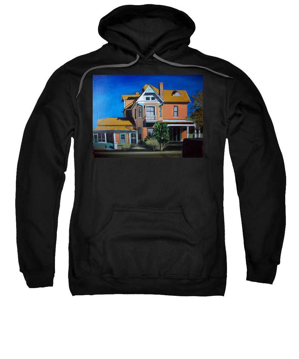 Sweatshirt featuring the painting Dwelling by Jude Darrien