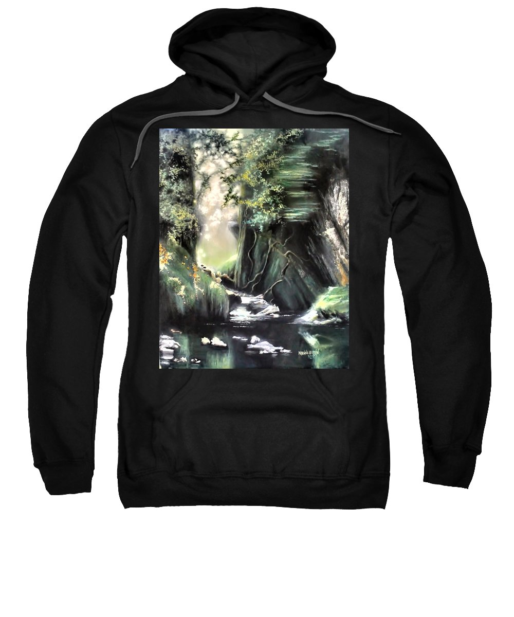 Ablaze Sweatshirt featuring the painting Fairy Glen by Melissa Herrin