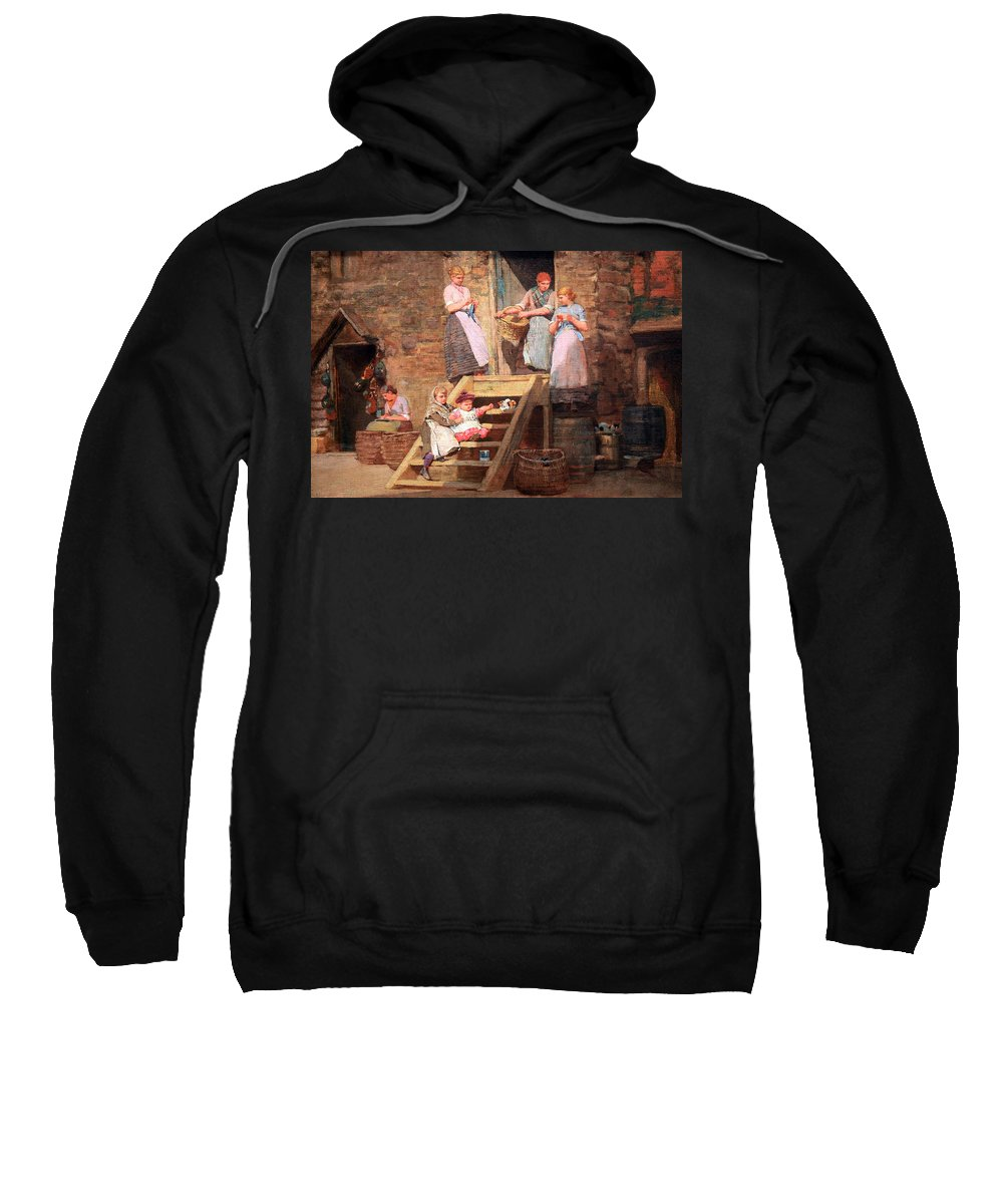 Sparrow Sweatshirt featuring the photograph Homer's Sparrow Hall by Cora Wandel