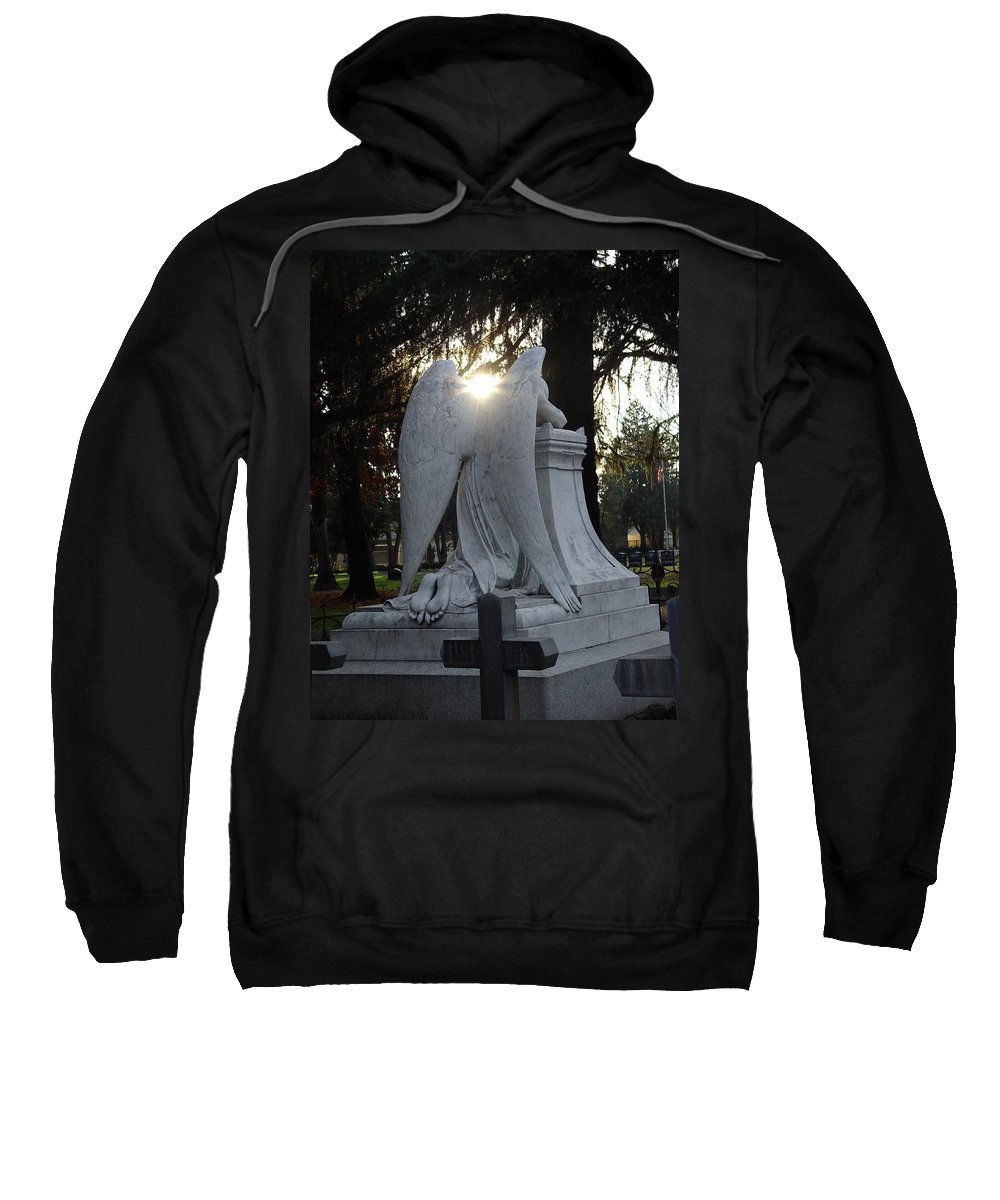 Guardian Sweatshirt featuring the photograph In The Shadow Of His Light by Peter Piatt