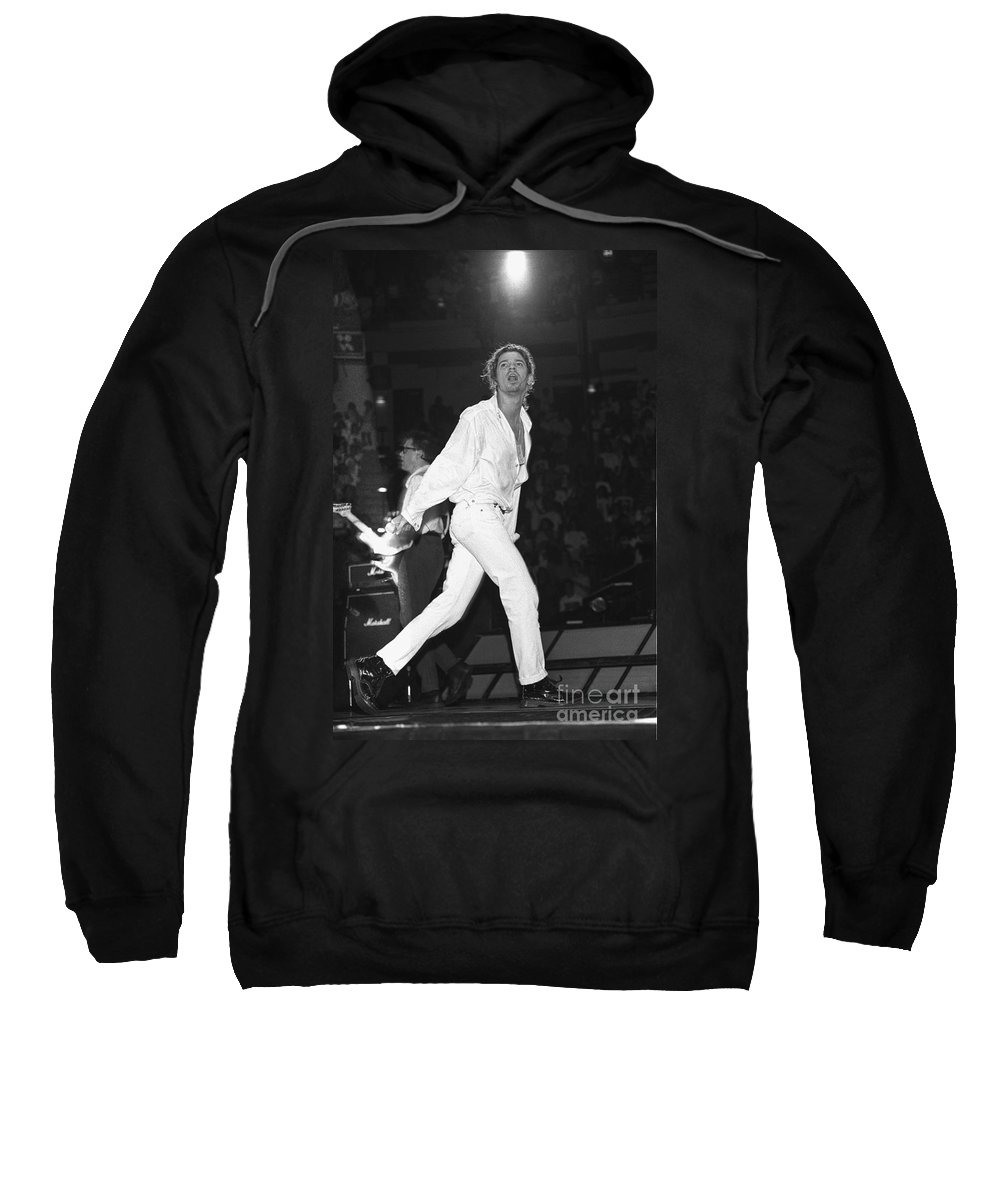 Singer Sweatshirt featuring the photograph Inxs by Concert Photos
