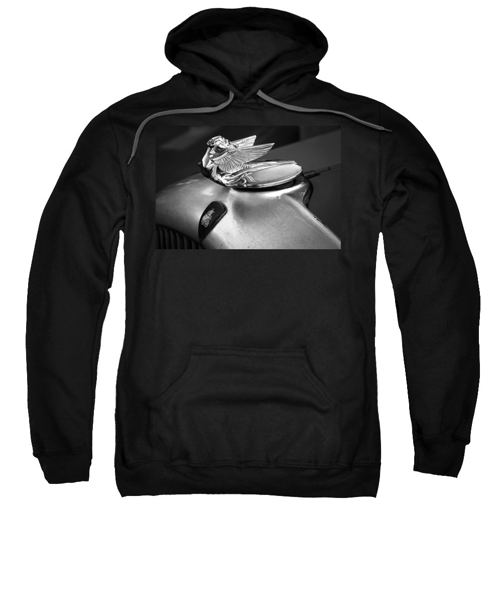 American Classic Cars Sweatshirt featuring the photograph Lady Of The Hood by Digital Kulprits