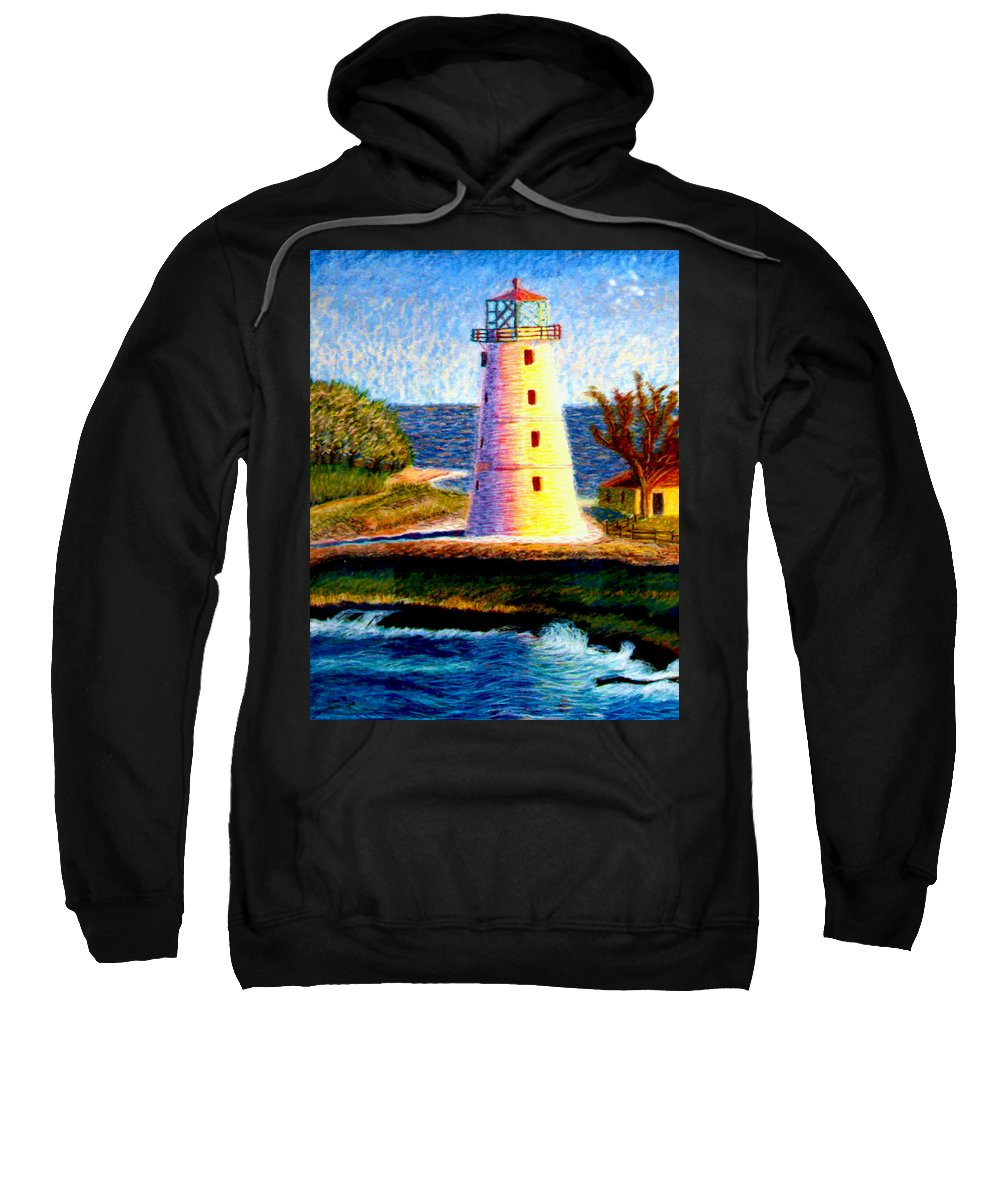 Light House Sweatshirt featuring the painting Light House by Stan Hamilton