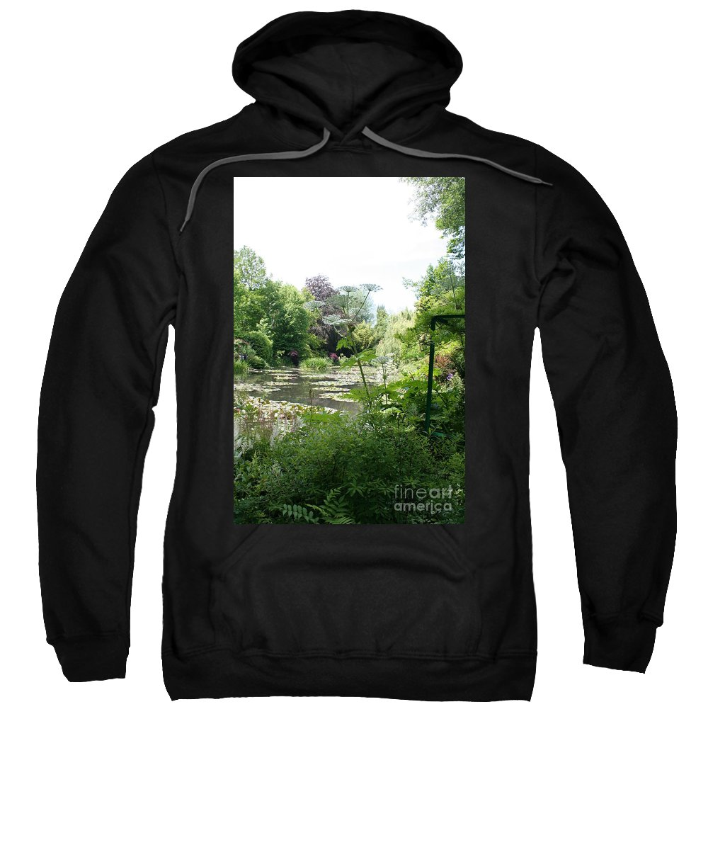 Lilies Sweatshirt featuring the photograph Lily Pond In Monets Garden by Christiane Schulze Art And Photography