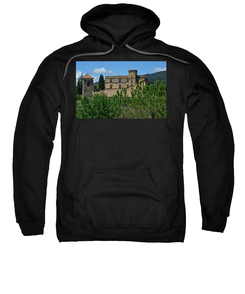Lourmarin Sweatshirt featuring the photograph Lourmarin Castle by Dany Lison