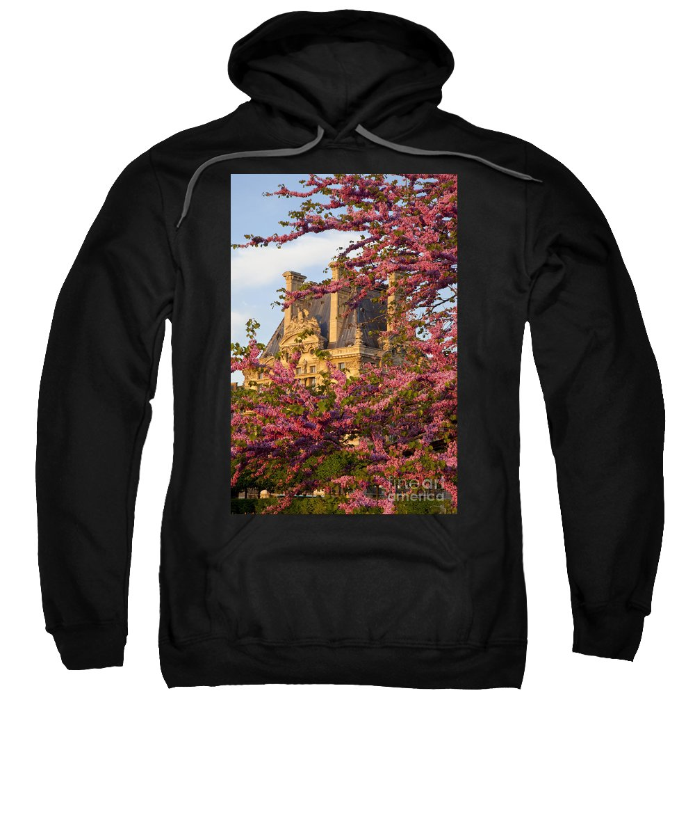 Architecture Sweatshirt featuring the photograph Louvre Blossoms by Brian Jannsen