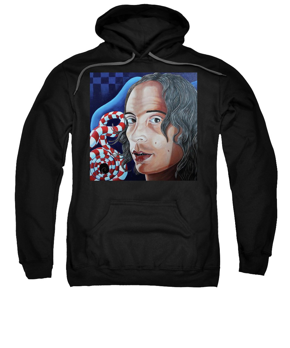 Mike Martinelli Sweatshirt featuring the painting Michael by Don Martinelli