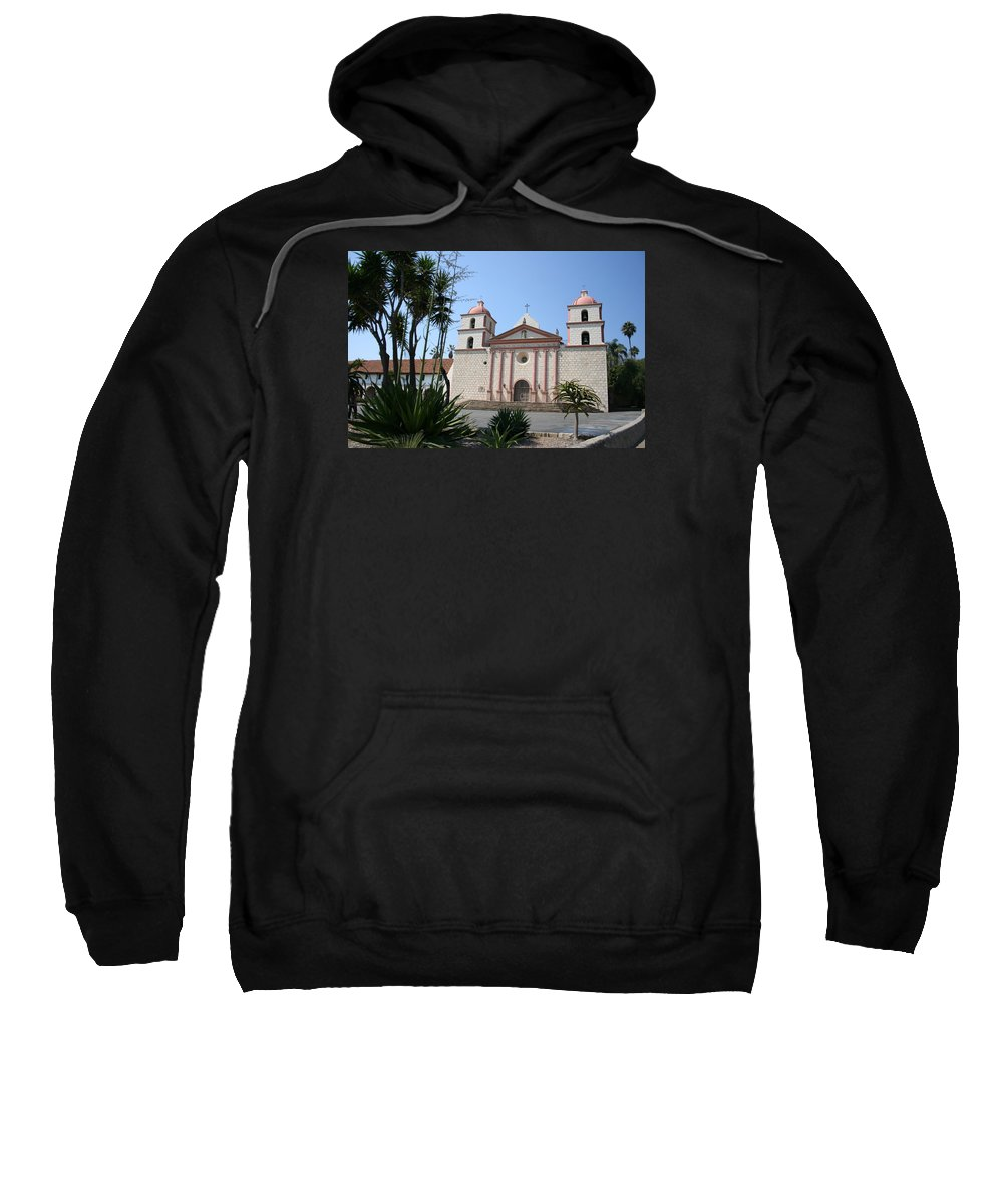 Mission Sweatshirt featuring the photograph Mission Santa Barbara by Christiane Schulze Art And Photography