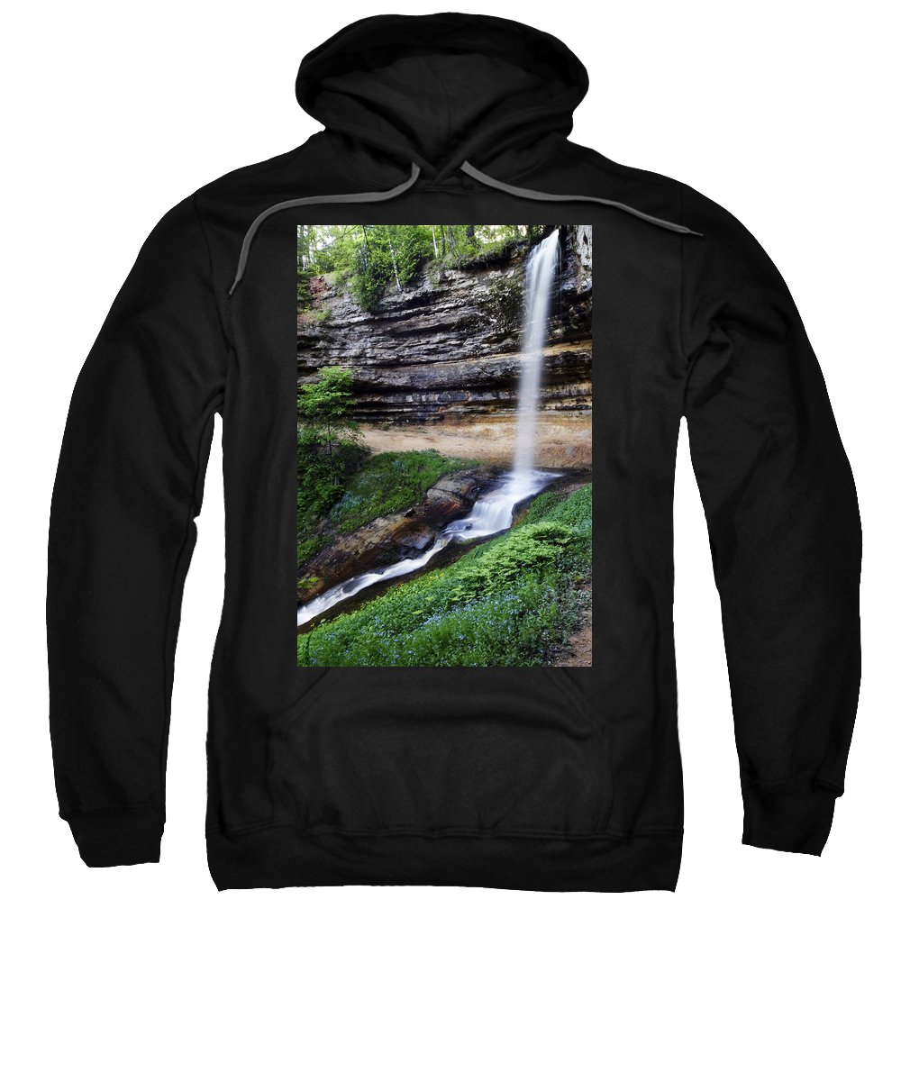 3scape Sweatshirt featuring the photograph Munising Falls by Adam Romanowicz