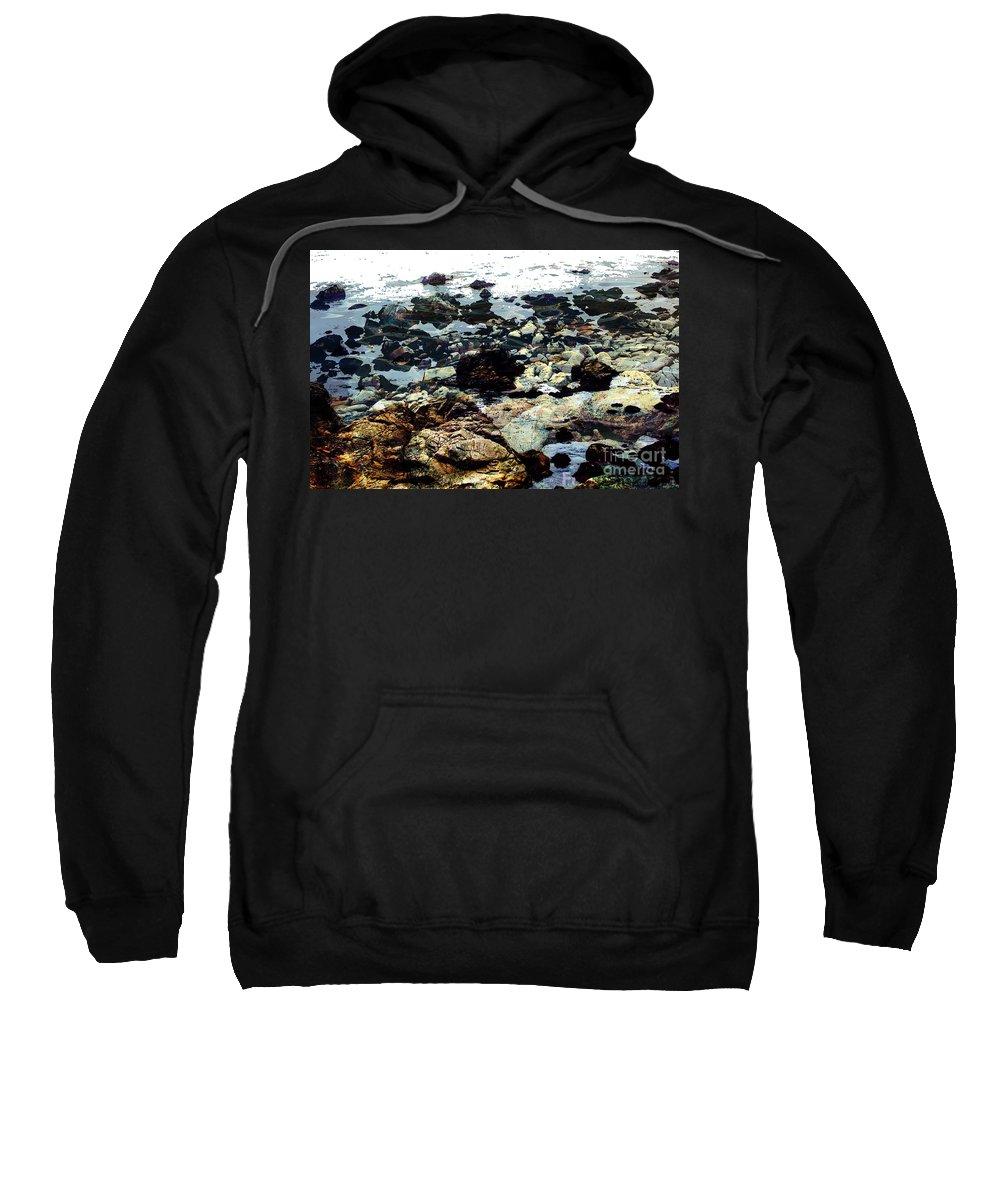 Ocean View Digital Image Sweatshirt featuring the digital art Ocean View by Yael VanGruber