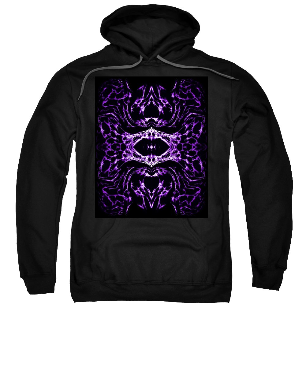 Original Sweatshirt featuring the painting Purple Series 3 by J D Owen