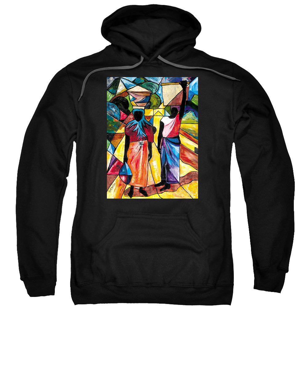 Everett Spruill Sweatshirt featuring the painting Road To The Market by Everett Spruill