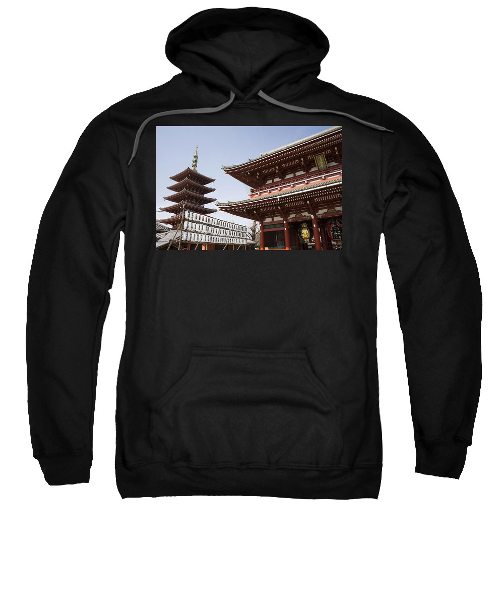 Japan Sweatshirt featuring the photograph Senso-ji Temple In Tokyo by For Ninety One Days