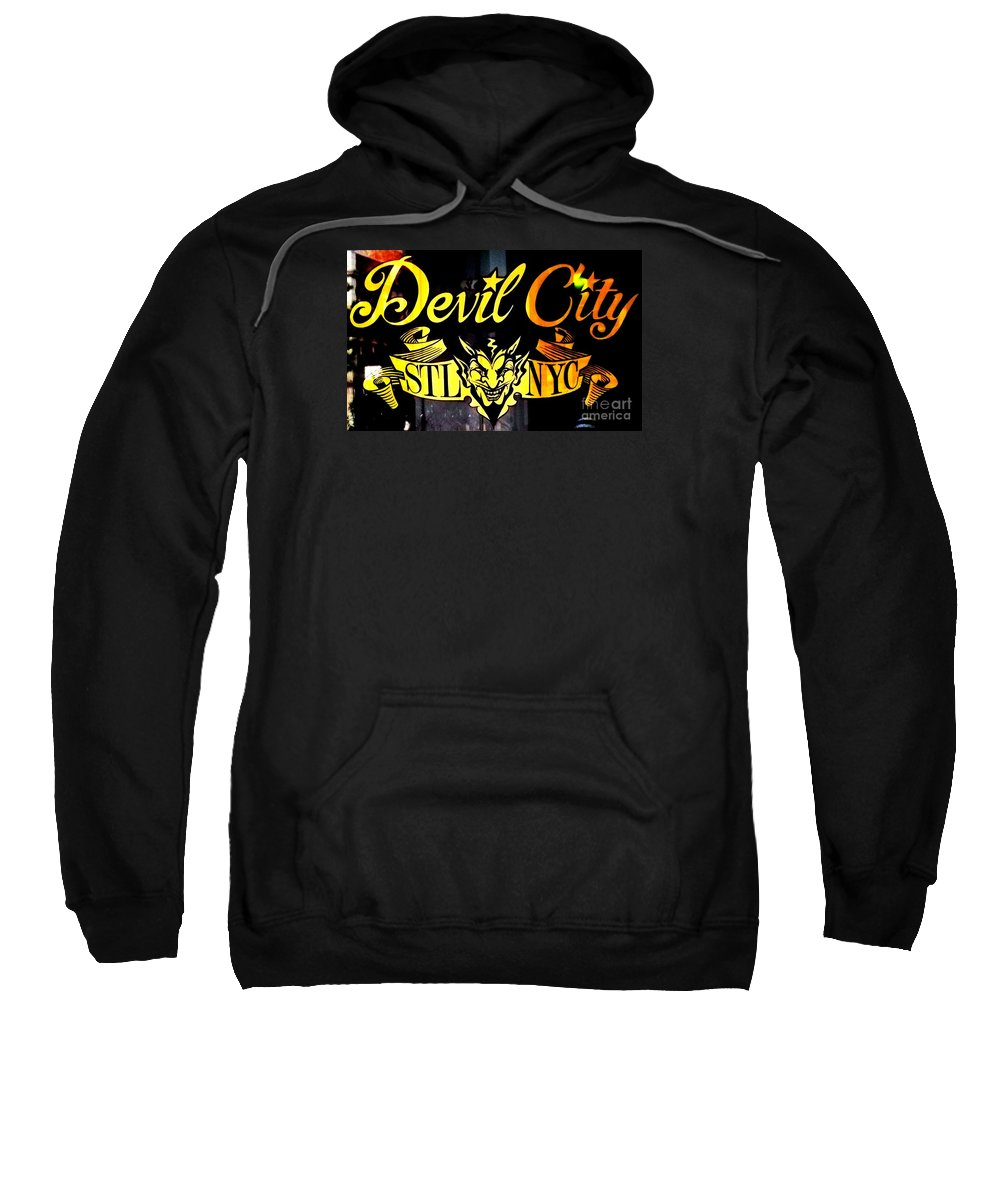 Devil City Sweatshirt featuring the photograph Shopping In The Loop by Kelly Awad