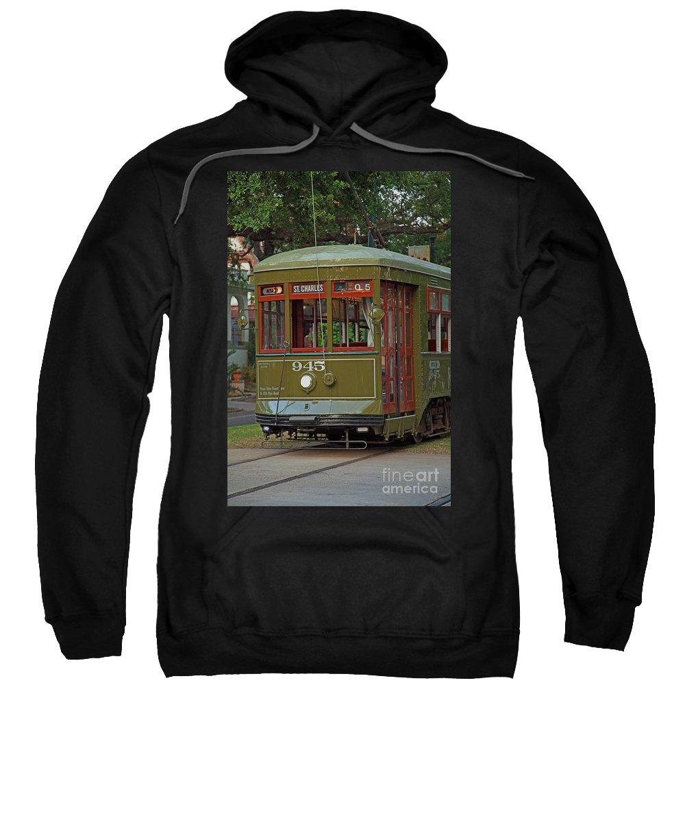 Saint Charles Sweatshirt featuring the photograph Streetcar by Susie Hoffpauir