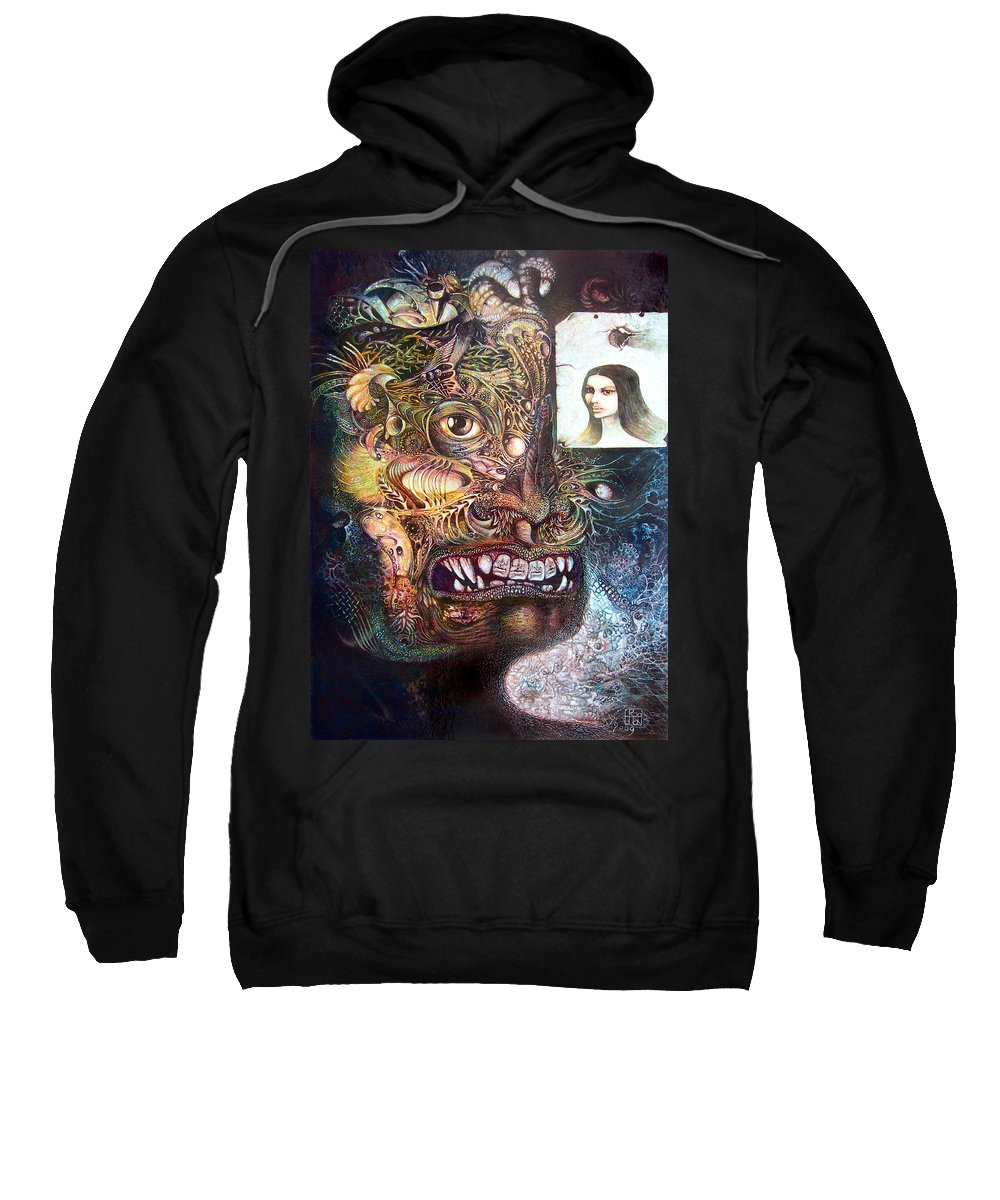 Mythology Sweatshirt featuring the painting The Beast Of Babylon by Otto Rapp