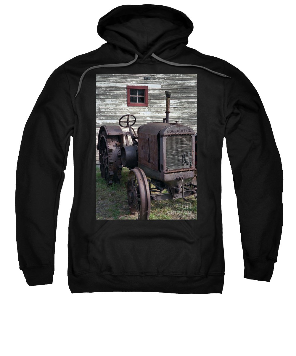 Farm Tractor Sweatshirt featuring the photograph The Old Mule by Richard Rizzo