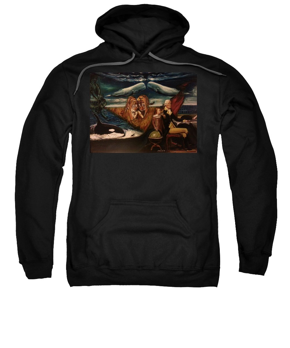 Sweatshirt featuring the painting The Spirit Of A Great American President by Jude Darrien