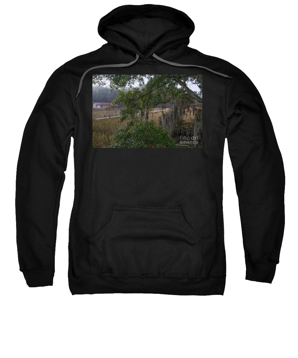 Dock Sweatshirt featuring the photograph Time Past by Dale Powell