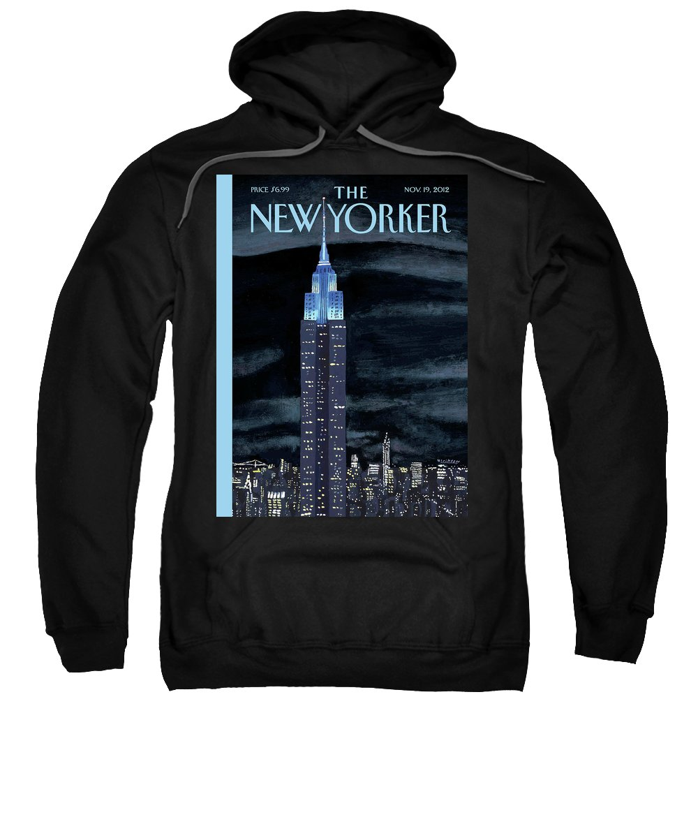 New York City Sweatshirt featuring the painting New Yorker November 19th, 2012 by Mark Ulriksen