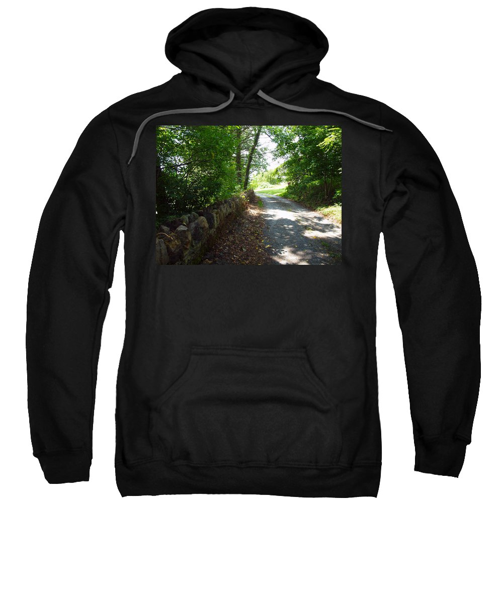 Cabins Sweatshirt featuring the photograph Up Over The Hill by Robert Margetts