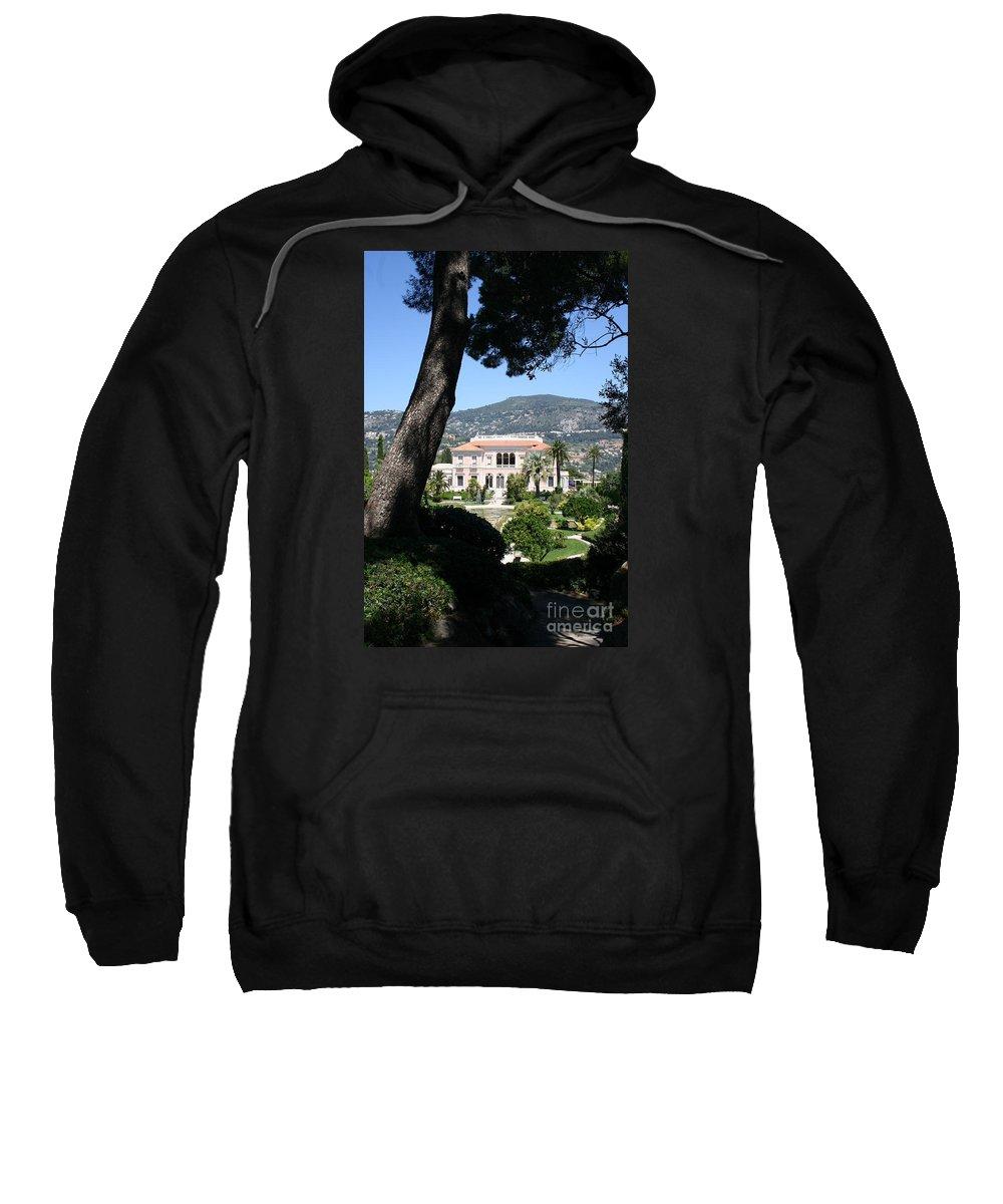 Villa Sweatshirt featuring the photograph Villa Ephrussi De Rothschild by Christiane Schulze Art And Photography