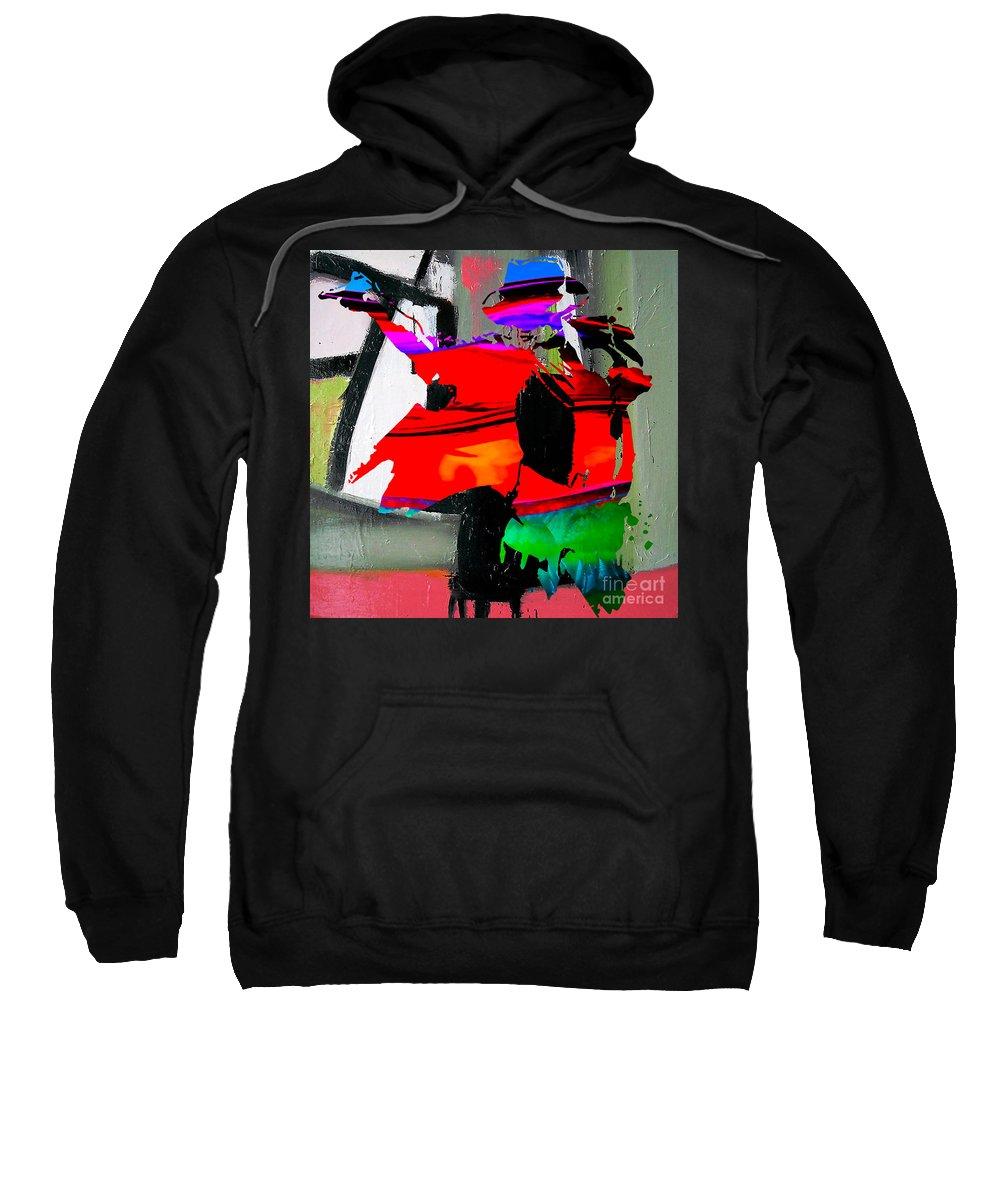 Michael Paintings Mixed Media Mixed Media Mixed Media Mixed Media Sweatshirt featuring the mixed media Michael Jackson by Marvin Blaine