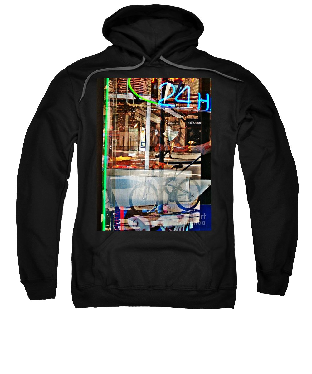 24 Hours Sweatshirt featuring the photograph 24 Hours by Sarah Loft