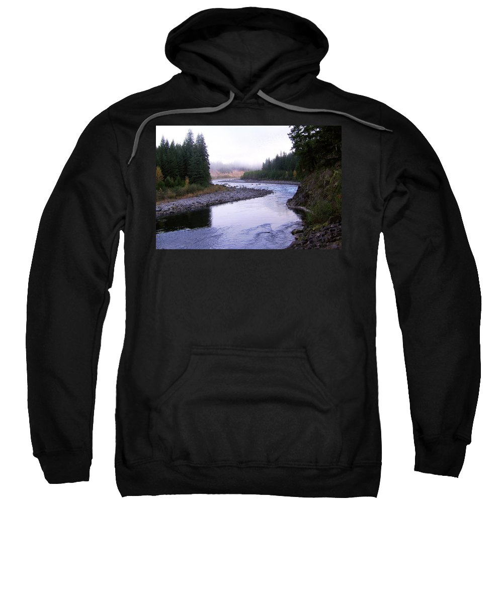Bloom Sweatshirt featuring the photograph A Mountain Stream by J D Owen