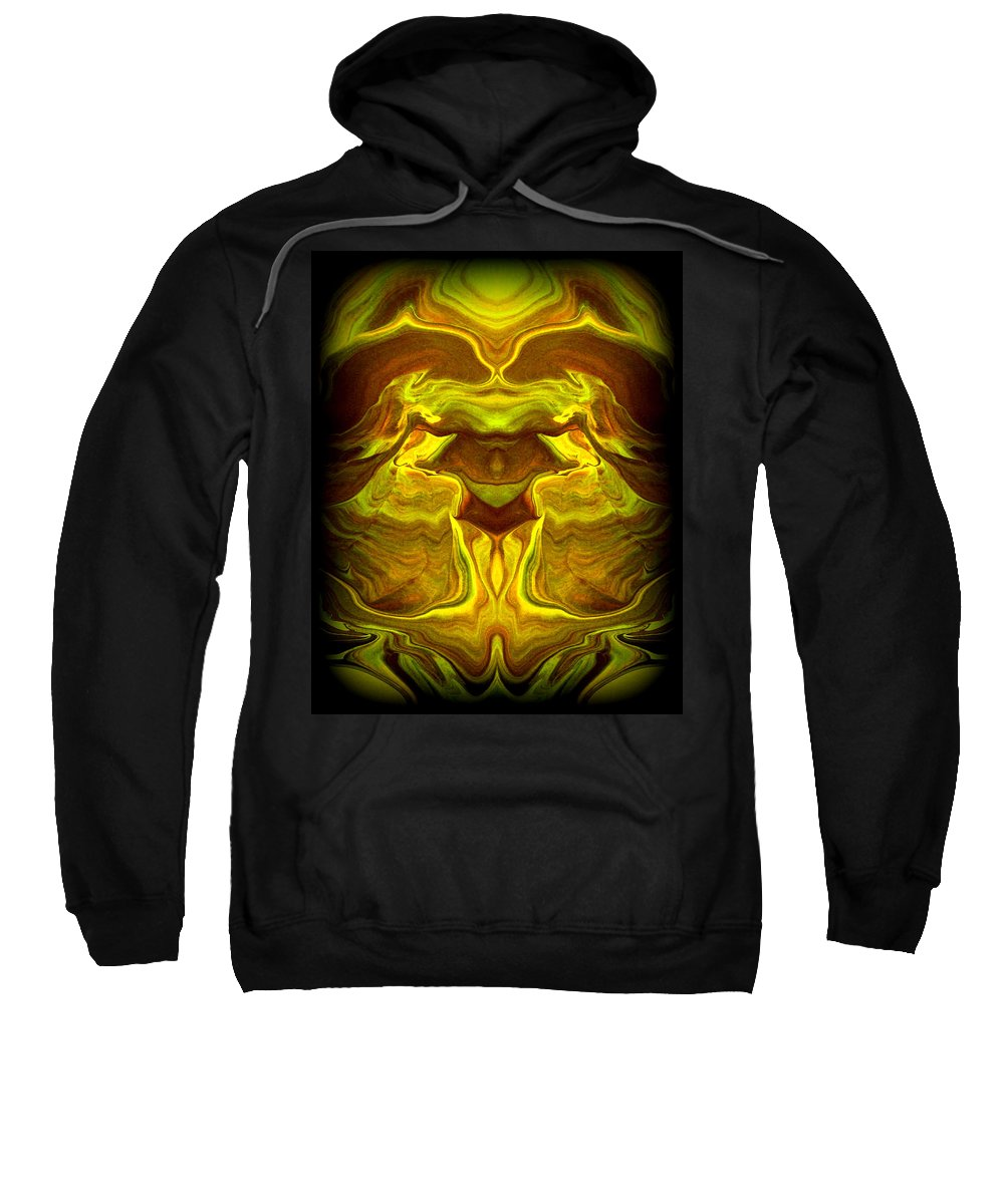 Original Sweatshirt featuring the painting Abstract 118 by J D Owen