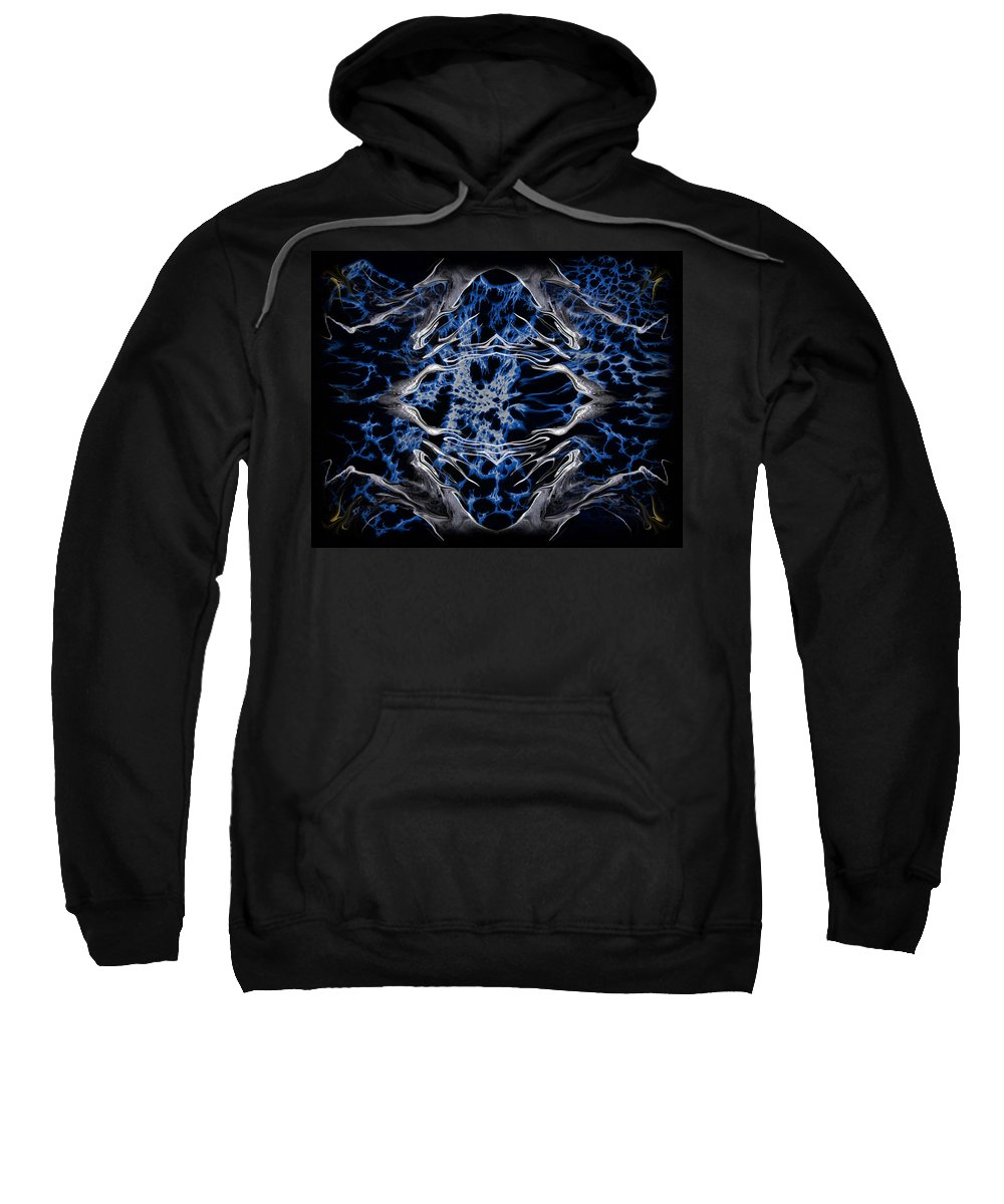 Original Sweatshirt featuring the painting Abstract 97 by J D Owen