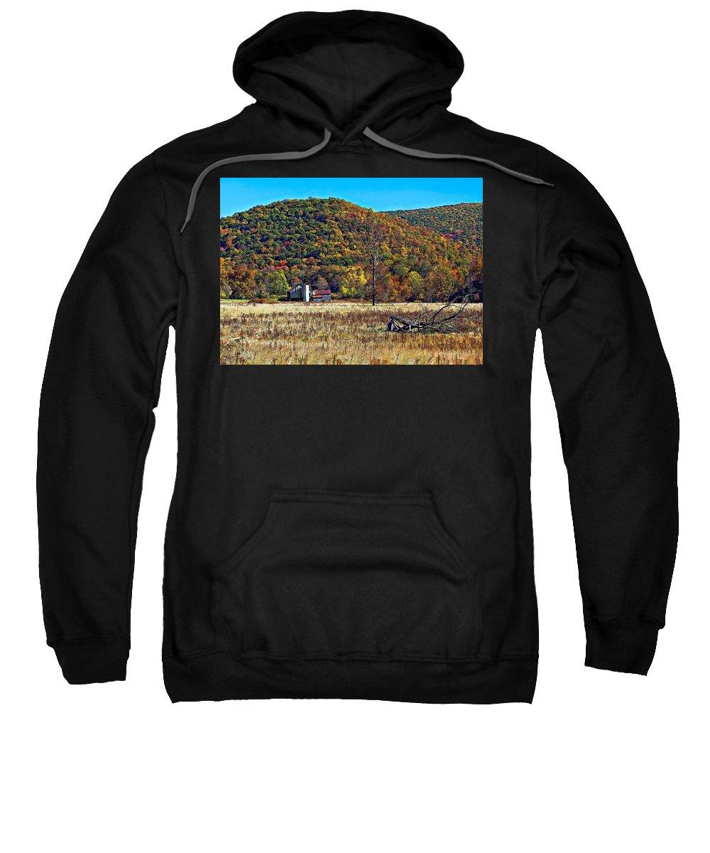 West Virginia Sweatshirt featuring the photograph Autumn Farm by Steve Harrington