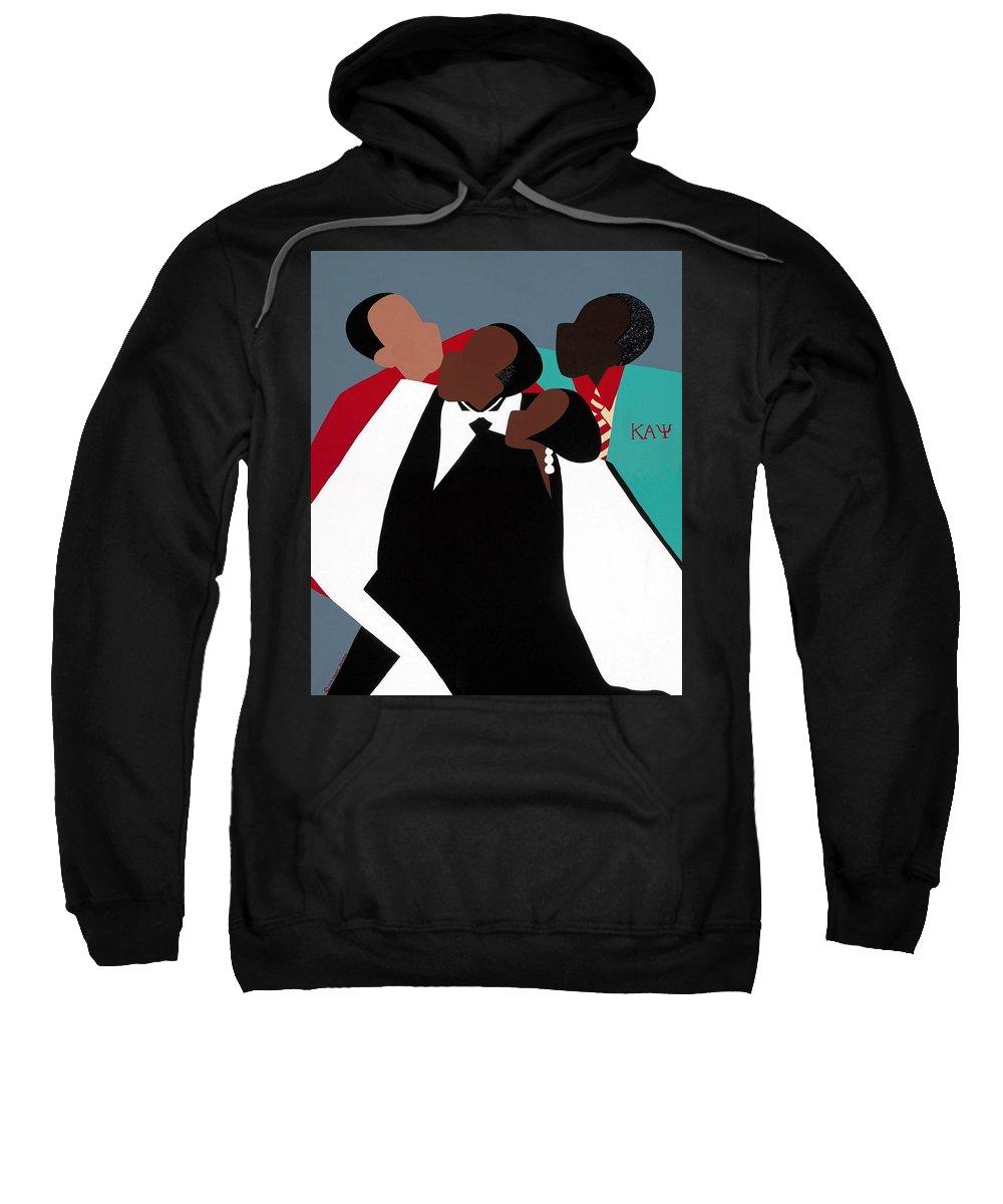 Kappas Sweatshirt featuring the painting Brotherhood by Synthia SAINT JAMES