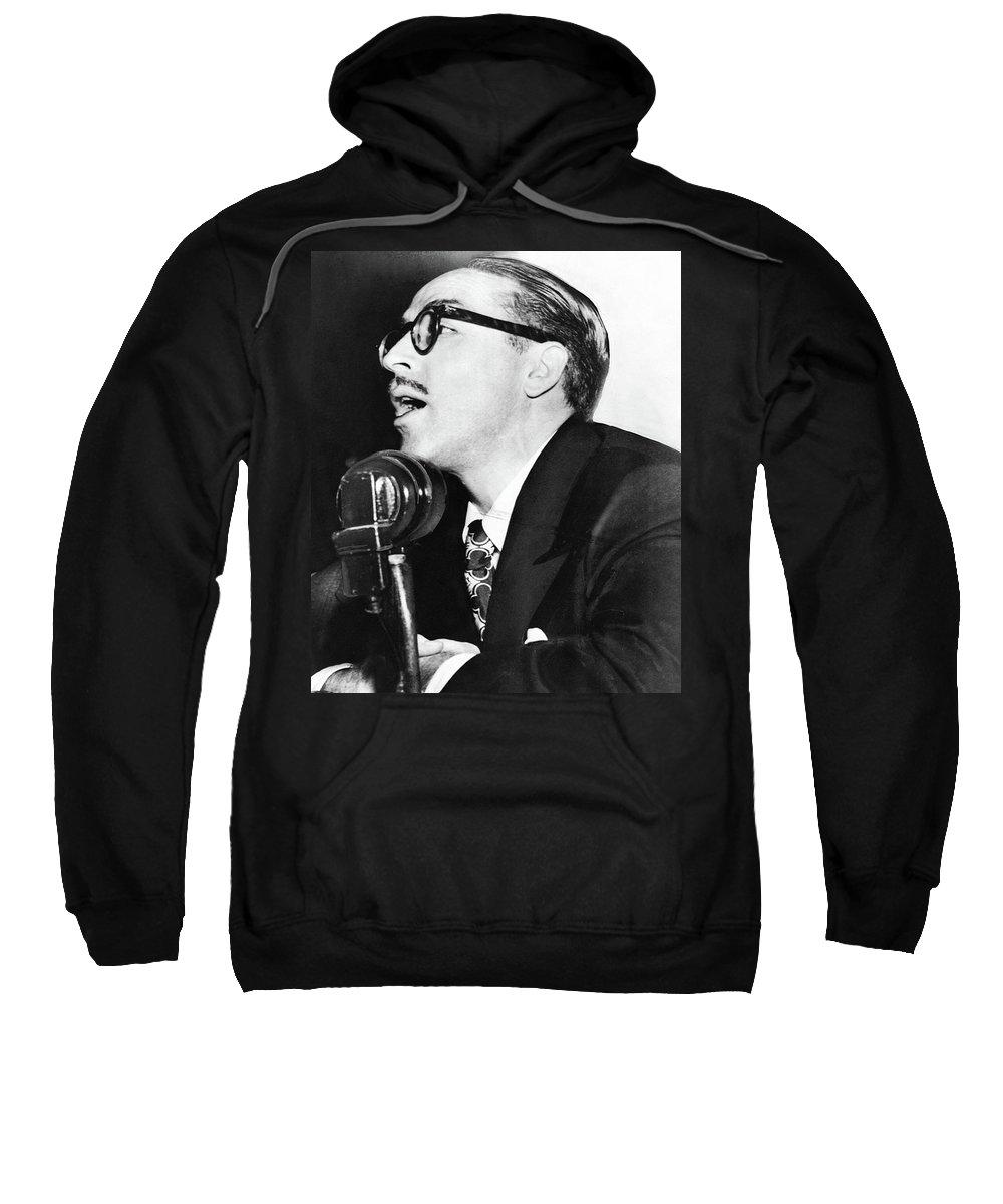 1950 Sweatshirt featuring the photograph Dalton Trumbo (1905-1976) by Granger