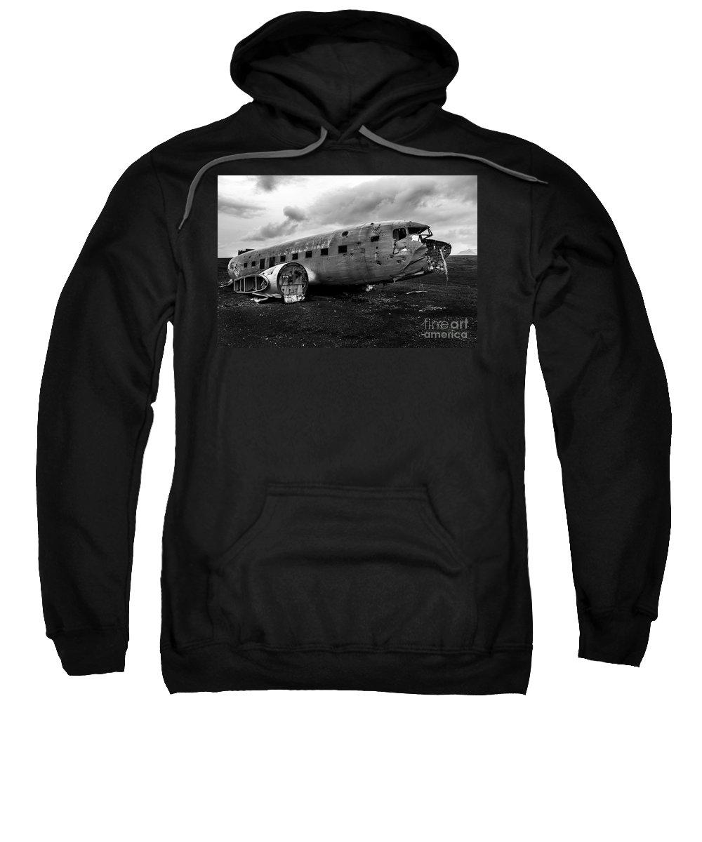 Dc 3 Sweatshirt featuring the photograph Dc-3 Iceland by Gunnar Orn Arnason