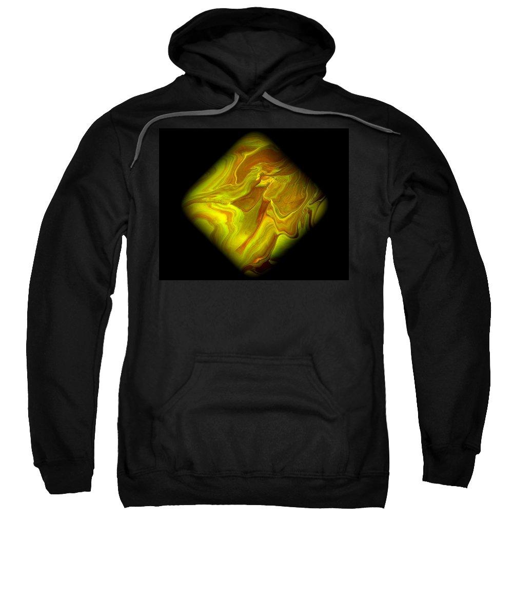 Symmetrical Sweatshirt featuring the painting Diamond 102 by J D Owen