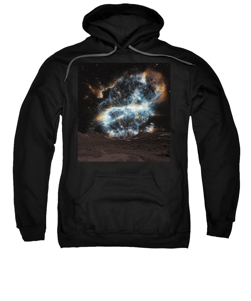 Sunlight Sweatshirt featuring the photograph Fantacy Edge Of The World by Paul Fell