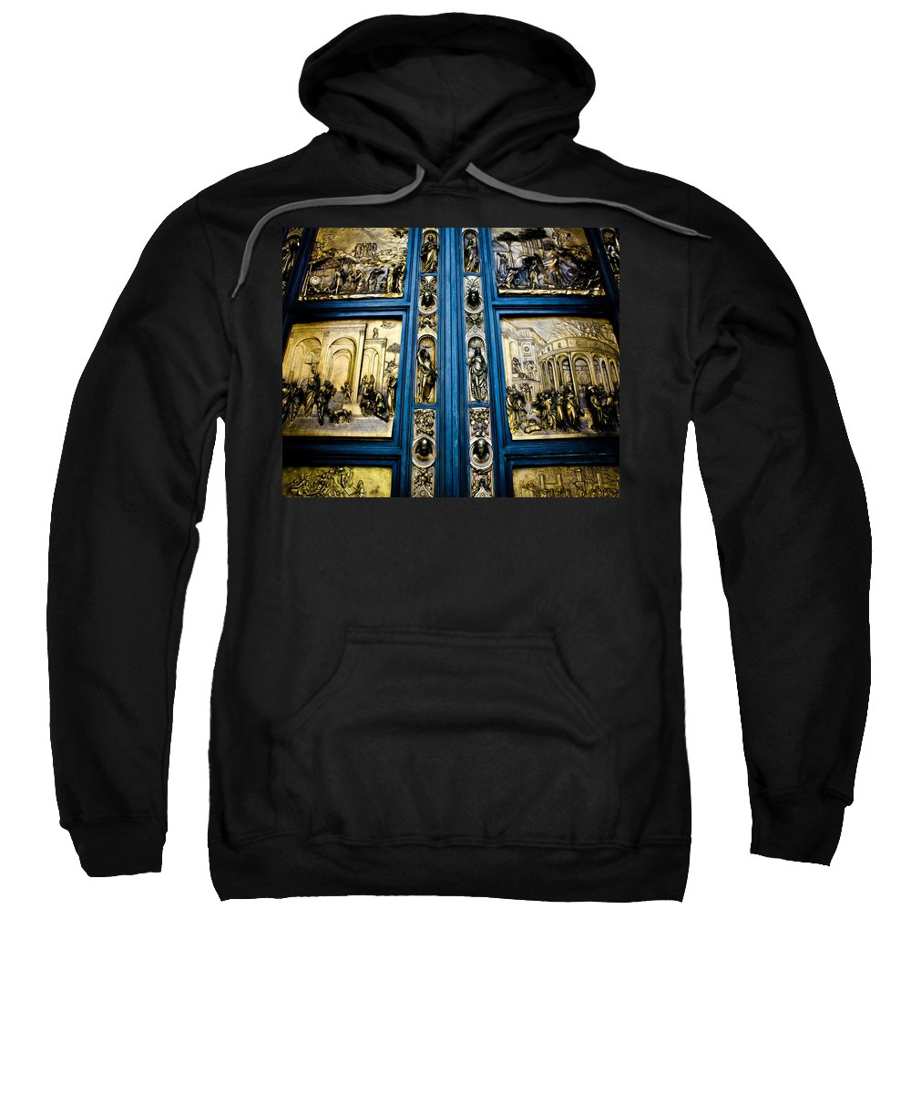Doors Sweatshirt featuring the photograph For I Have Sinned by Digital Kulprits