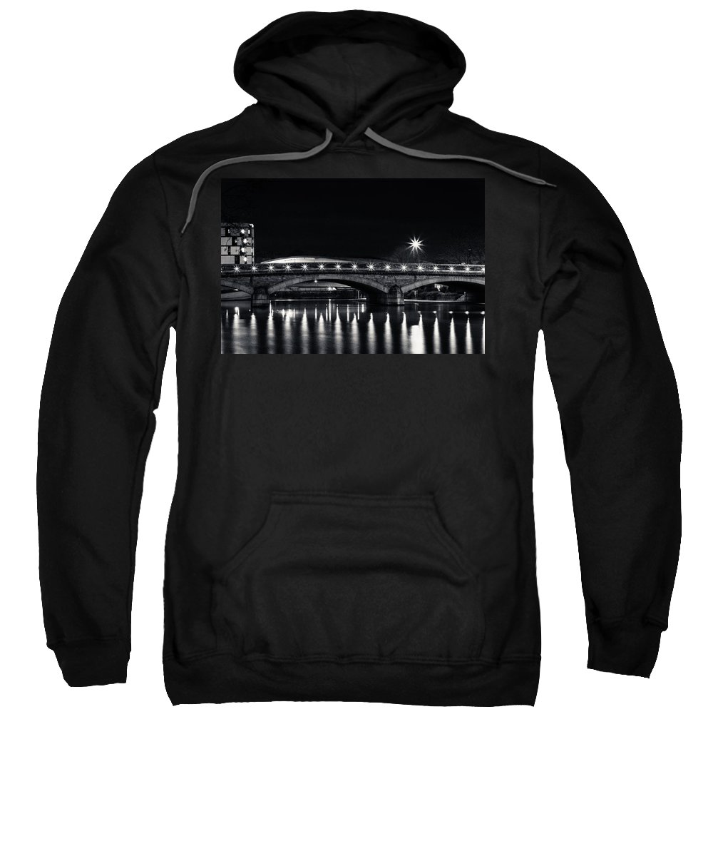 Maidstone Bridge Sweatshirt featuring the photograph Maidstone Bridge by Dawn OConnor