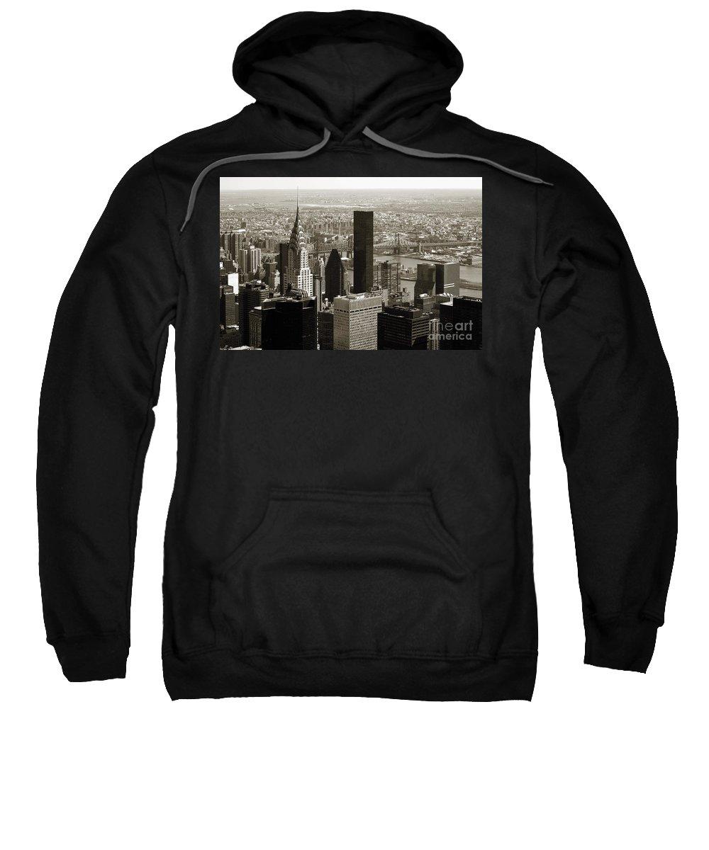 Bw Sweatshirt featuring the photograph Manhattan by RicardMN Photography