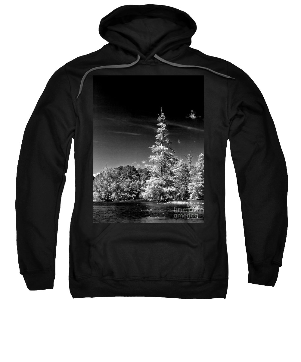 Vernon Lake Sweatshirt featuring the photograph On The Edge by Ken Frischkorn