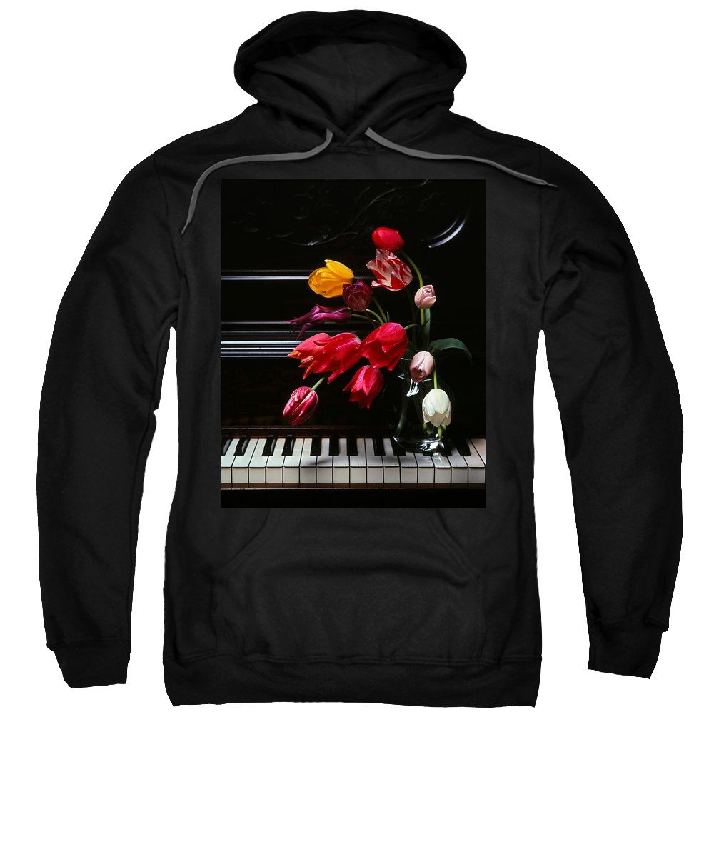 Piano Sweatshirt featuring the photograph Piano by Photophilous