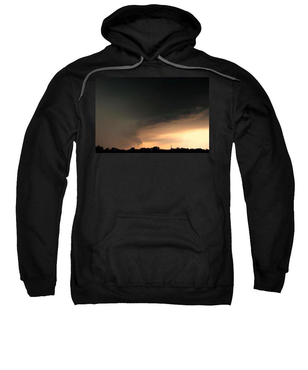 Stormscape Sweatshirt featuring the photograph Strong Nebraska Supercells by NebraskaSC